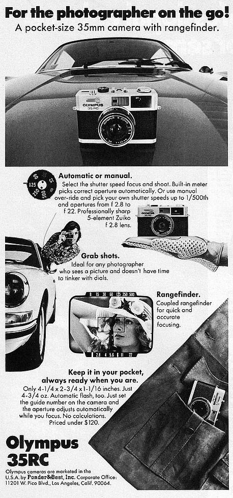 olympus 35 rc camera marketing advert - rc35 film camera