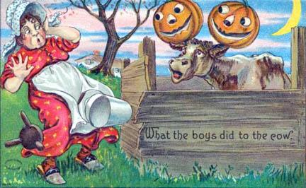 Antique Halloween postcard image