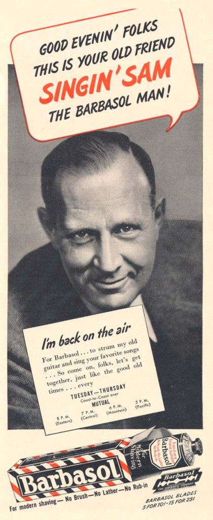 1943 Barbasol ad