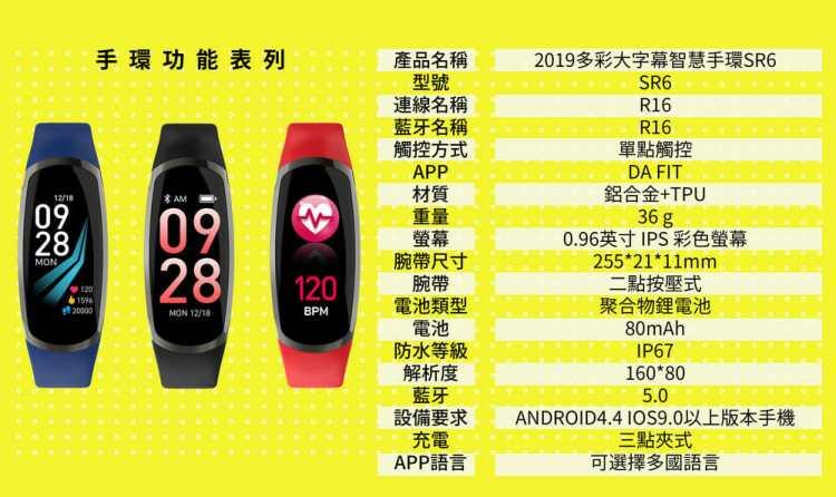2019 Waymax|SR6 多彩大字幕智慧手環開箱介紹! 10
