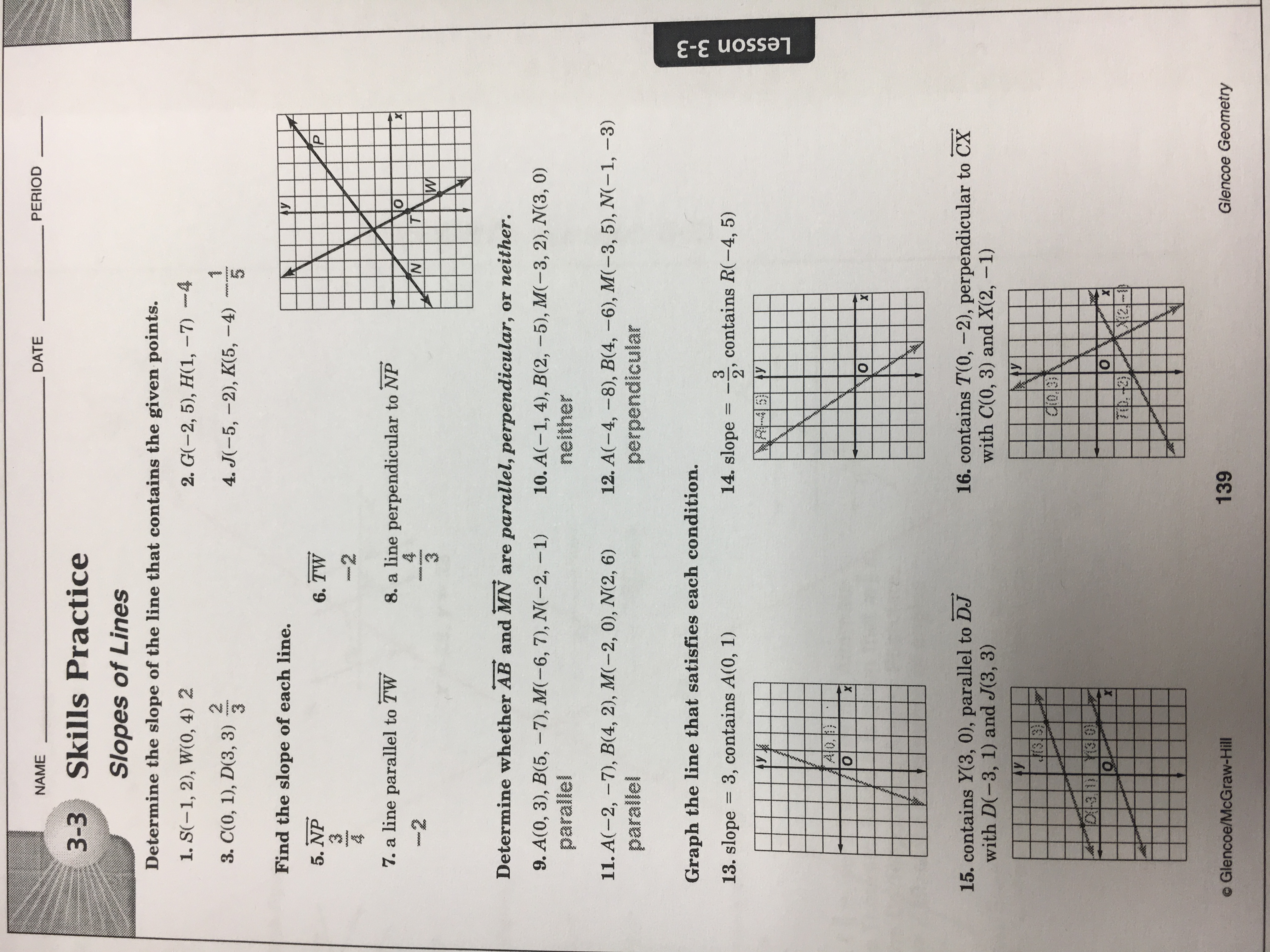 Geometry Equations Worksheet Answers