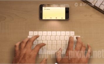 iPhone投影鍵盤概念正式在2013 CES展上實現