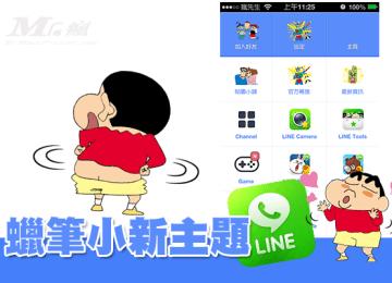 [主題]自製LINE3.7.X for iOS 「蠟筆小新」主題分享