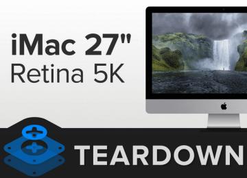 iMac 27吋 Retina 5K 尚未開賣就被iFixit拆光光!