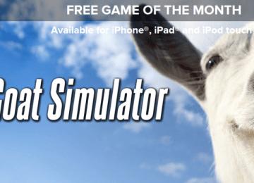 [iPhone/iPad限時免費]iGN免費下載代碼:超級惡搞遊戲「模擬山羊 Goat Simulator」