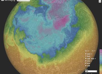 [3C天氣]顛覆天氣特效網站!由Windyty讓您瞭解北極震盪及極鋒噴流帶來的寒流影響