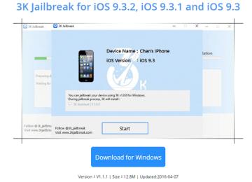 [越獄消息]3kjailbreak將推出iOS9.2~iOS9.3.2完美越獄工具?!