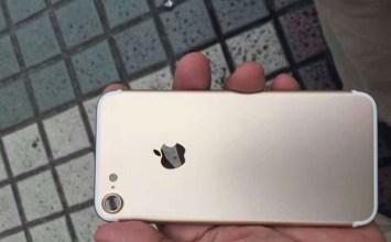 iPhone7 趨近於完美的金色外殼流出!鏡頭的確很大