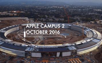 4K空拍機呈現新蘋果新總部Apple Campus 2進度:已經開始裝潢照明燈