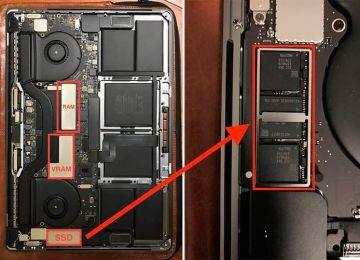 採用Touch Bar的15吋MacBook Pro證實無法更換SSD