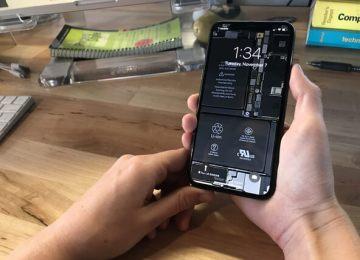 免費下載高畫質iPhone X透明主機板桌布