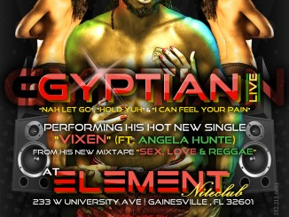 Flyer for Gyptian Live presented by Team Mr. Magnum