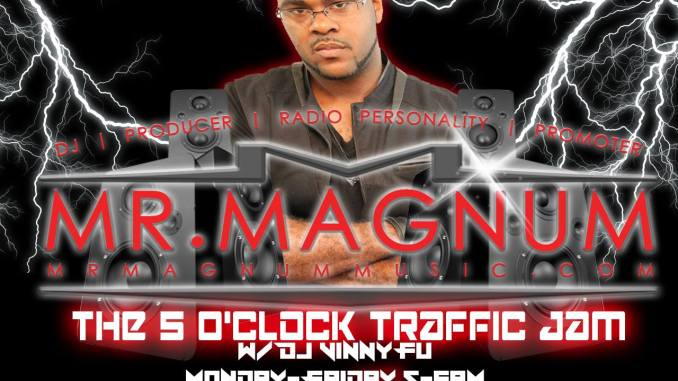 The 5 O'Clock Traffic Jam with Mr. Magnum on Magic 101.3 in Gainesville, FL, Live DJ Mix.