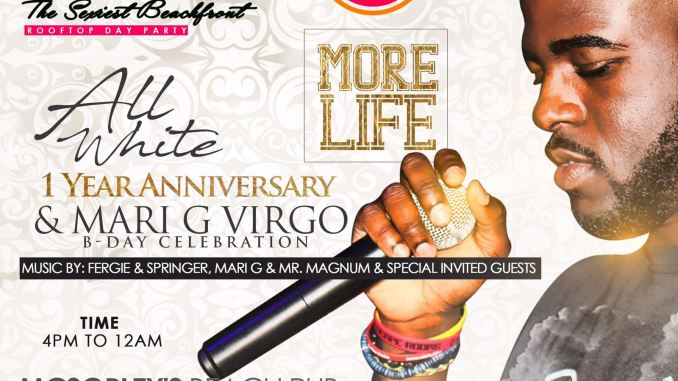 DayLit The All White 1 Year Anniversary Party 9/2/2017 featuring Mr. Magnum, DJing in Ft. Lauderdale at McSorley's Beach Pub. Rooftop day party.