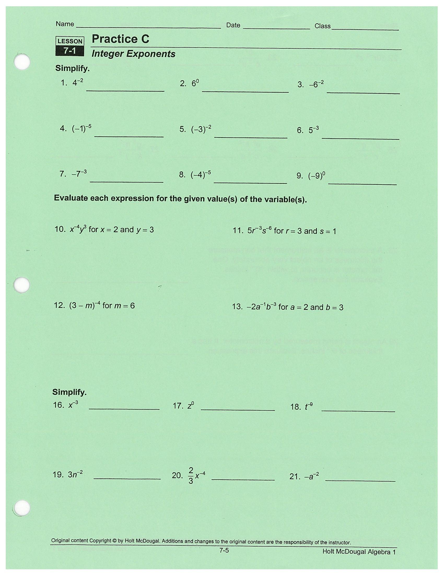 Algebra 9