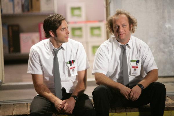 """Chuck vs. Tom Sawyer"" Episode 205 -- Pictured: (l-r) Zachary Levi as Chuck, Scott Krinsky as Jeff (NBC Photo: Adam Taylor)"