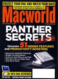 MacWorld magazine, April 2004, Jason Snell, editor, Mr. Media Interviews