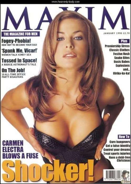 Carmen Electra on the cover of Maxim, Mr. Media Interviews