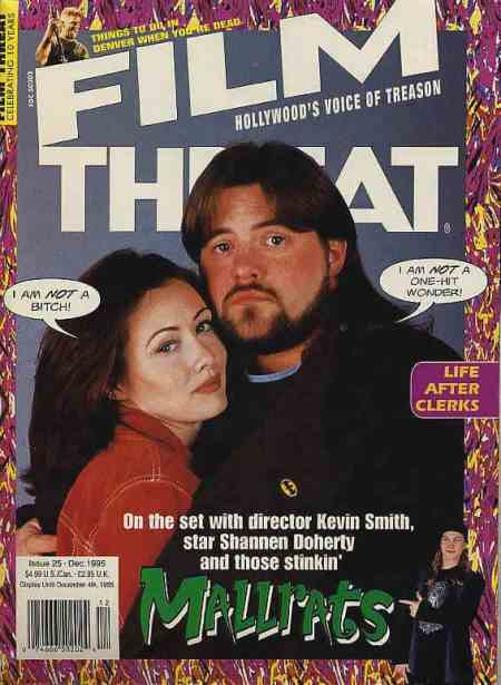 Film Threat magazine, Kevin Smith and Mallrats cover story, Chris Gore, Mr. Media Interviews