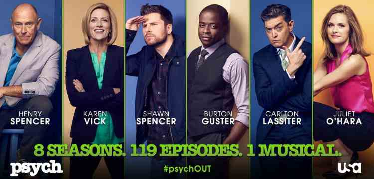 The cast of Psych, starring Dule Hill and James Roday, Mr. Media Interviews