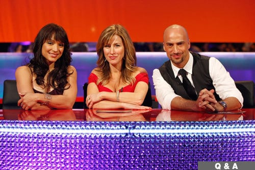 Lisa Ann Walter, center, with Dance Your Ass Off judges