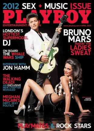 Raquel Pomplun, 2013 Playboy Magazine Playmate of the Year, Mr. Media Interview, Bruno Mars