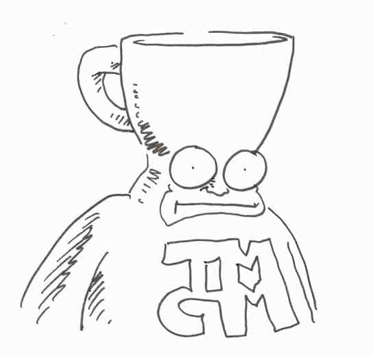 Shannon Wheeler, Too Much Coffee Man sketch, cartoonist, Mr. Media Interviews