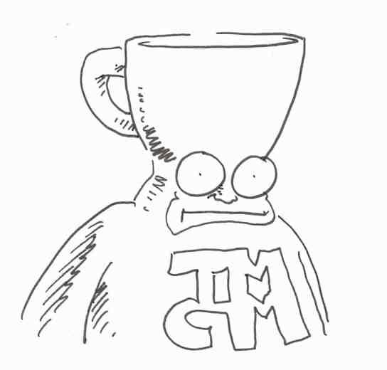 Shannon Wheeler, Too Much Coffee Man sketch, cartoonist, Mr. Media Interviews