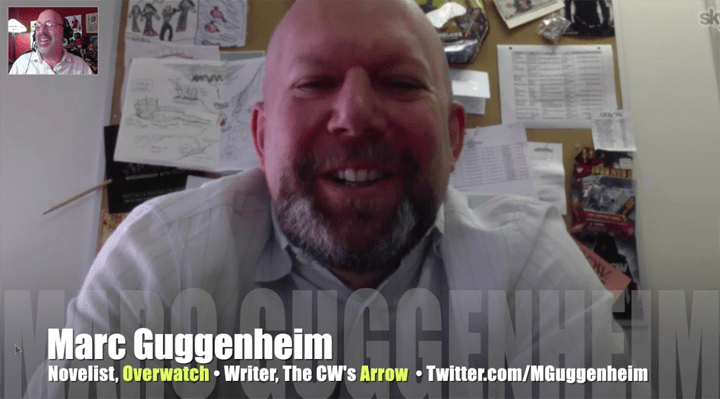 Marc Guggenheim, Overwatch, Arrow, Green Lantern movie, writer, Mr. Media Interviews