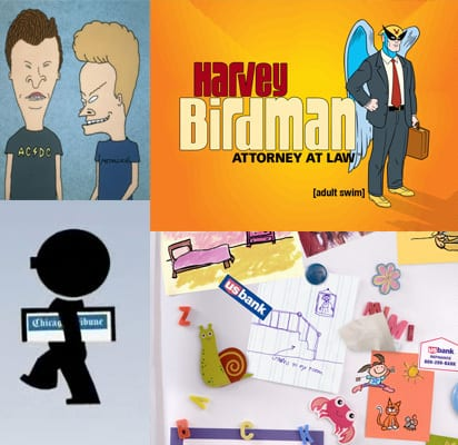 J.J. Seidelmaier Studios, Beavis & Butthead, Harvey Birdman Attorney at Law, The Amibuously Gay Duo, Mr. Media Interviews