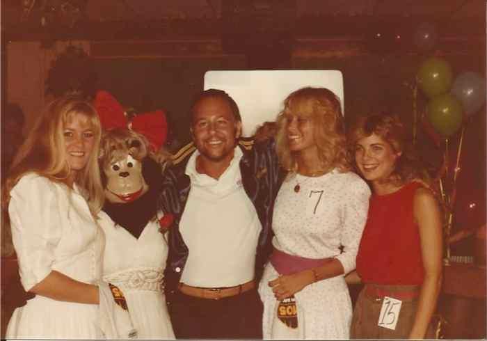 Cleveland Wheeler and Friends, 1983, WRBQ Q105, Tampa radio, photo by Bob Andelman, Mr. Media Interviews