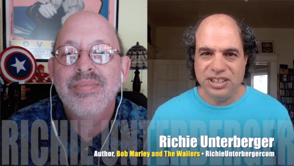 Richie Unterberger (R), author, Bob Marley and the Wailers: The Ultimate Illustrated History (Voyageur Press), with Bob Andelman, Mr. Media Interviews