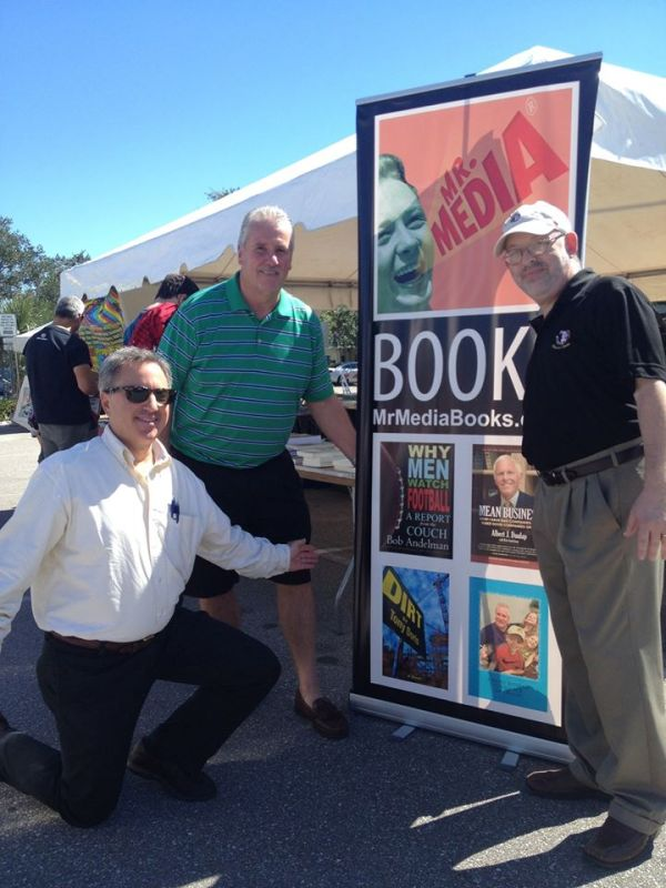 Tony Doris, John Hutton, Bob Andelman, Mr. Media Books, 2014 Tampa Bay Times Festival of Reading, USF-St. Petersburg campus