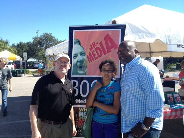 Bob Andelman, Sophie Deggans, Eric Deggans, Mr. Media Books, 2014 Tampa Bay TImes Festival of Reading, USF-St. Petersburg campus