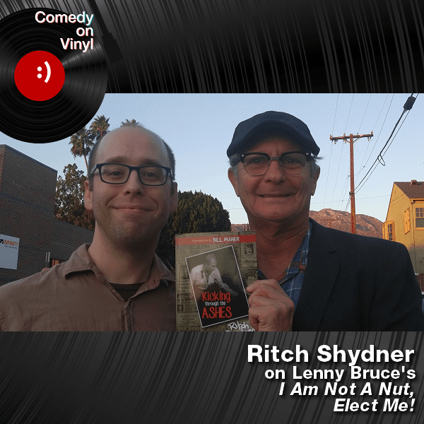 Comedy on Vinyl podcast with guest Ritch Shydner, Mr. Media Books