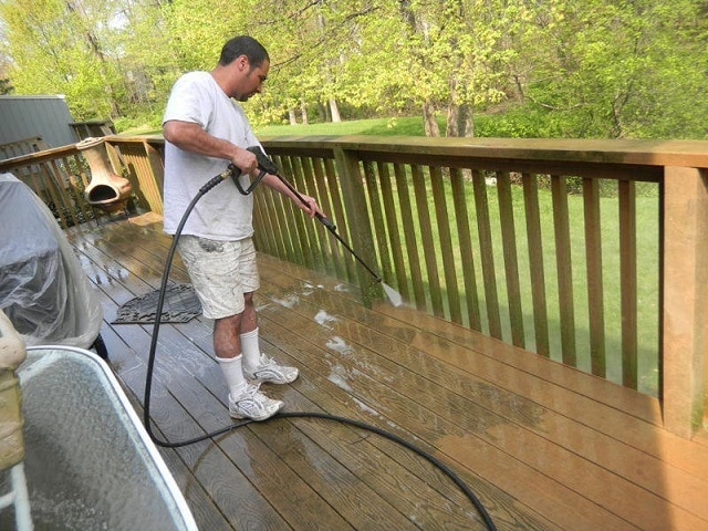 Patio and Deck Pressure Cleaning