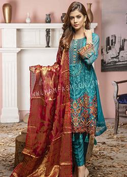 Zainab Fazlani Luxury Soiree Mbroidered Chiffon - Original