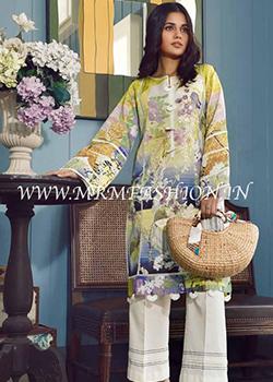 Firdous Solitaire Embroidered Linen Kurti - Original