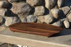 "Surfboard # 14-01. One of 5 pieces made in this group. Black Walnut. 12"" x 19"" x 1-1/4""."