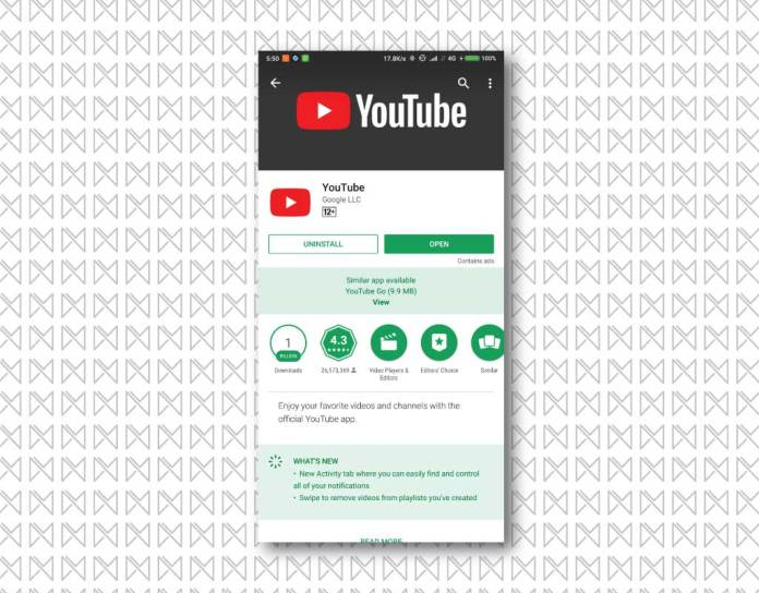 darkmode youtube app 1