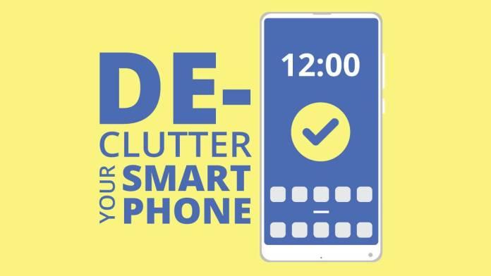 declutter smartphone
