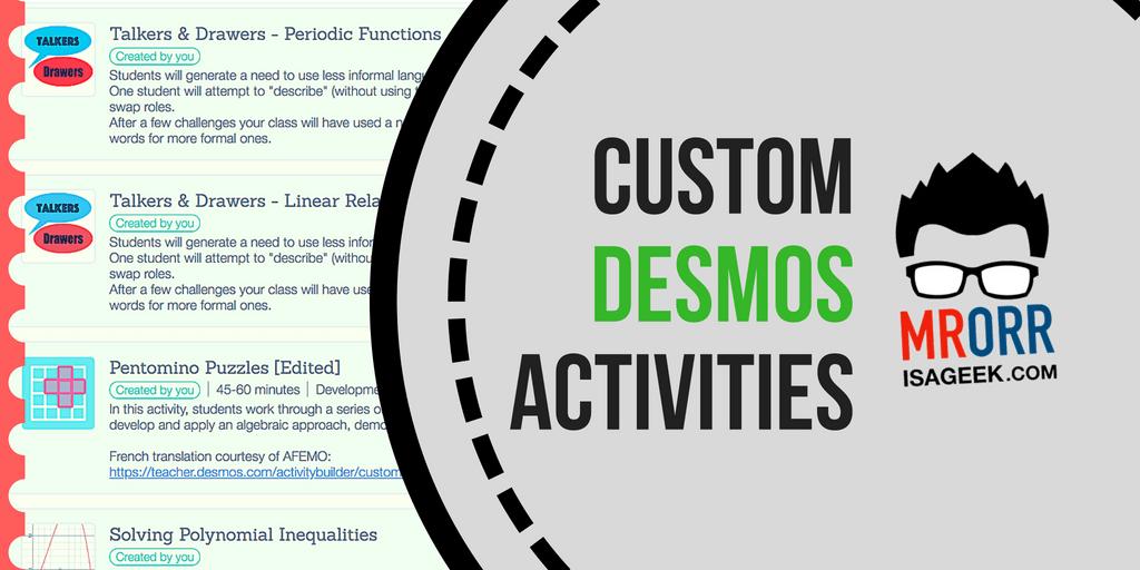 Custom Desmos Activities