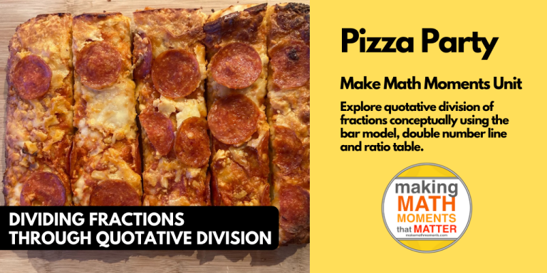 Pizza Party - Real World Math Dividing Fractions Quotatively