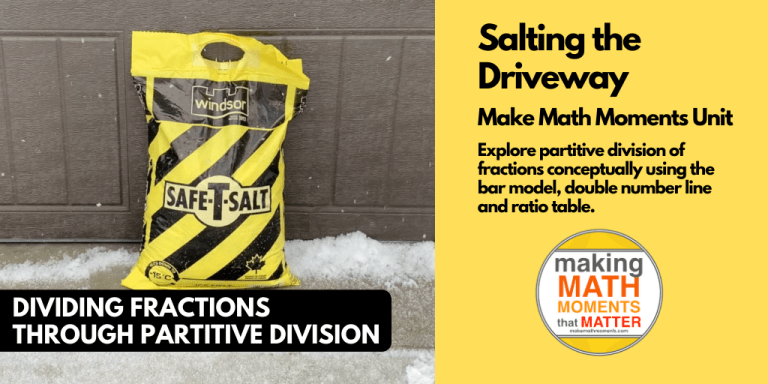 Salting The Driveway - 3 Act Math Task Dividing Fractions Partitively