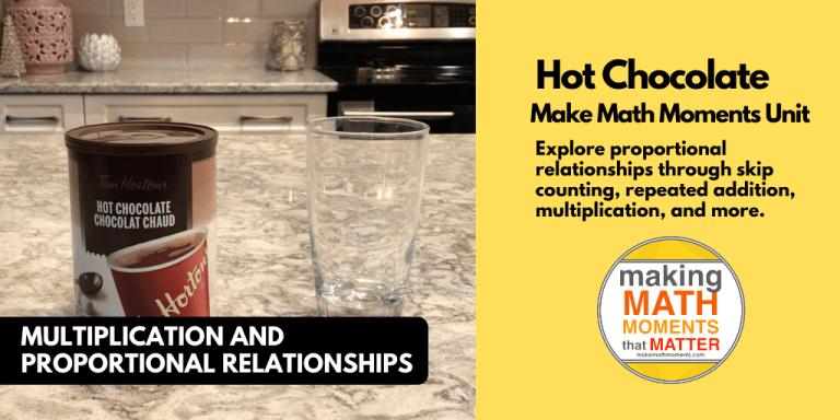 Hot Chocolate 3 act math task