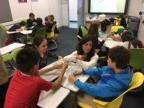 At the United Nations International School (NYC) with Ecusa en las Escuelas