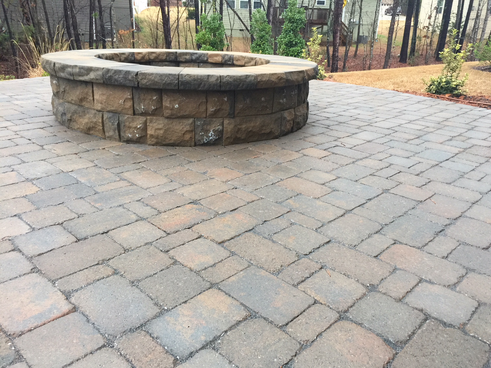 A Belgard Paver Patio, Fire Pit and Landscaping - Mr ... on Pavers Patio With Fire Pit id=29804