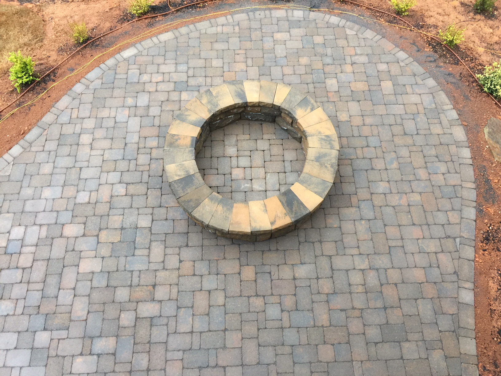 A Belgard Paver Patio, Fire Pit and Landscaping - Mr ... on Pavers Patio With Fire Pit id=74834