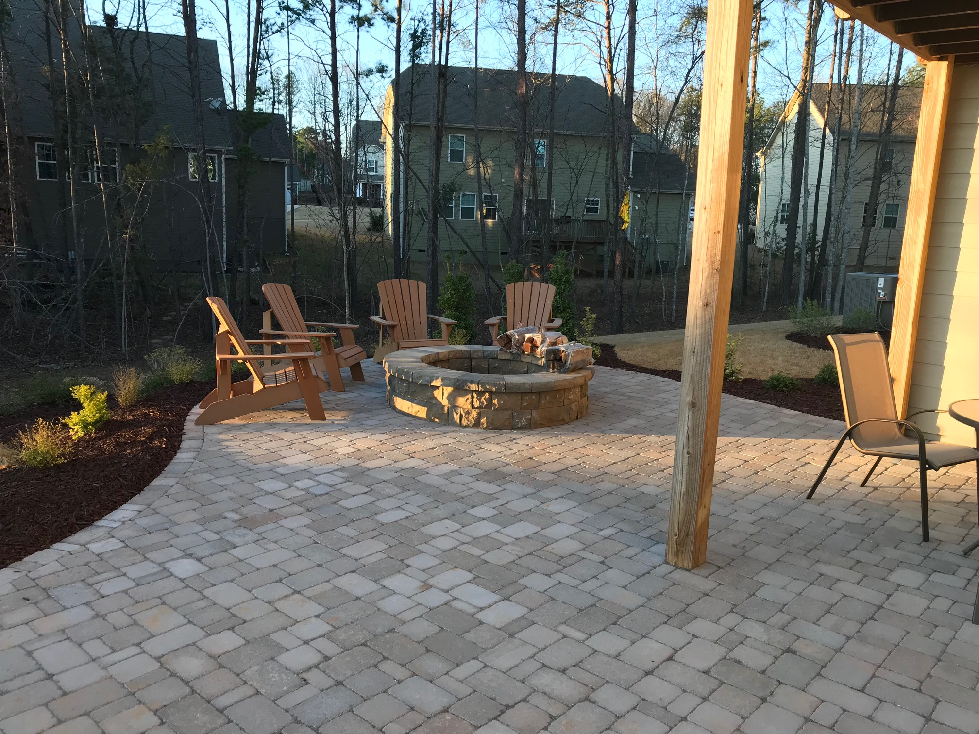 A Belgard Paver Patio, Fire Pit and Landscaping - Mr ... on Paver Patio With Fire Pit Ideas id=98170