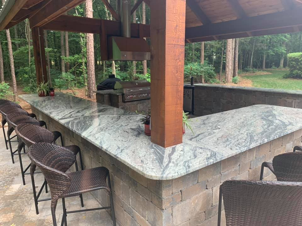 Outdoor Bar with custom granite